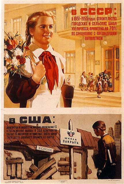 10 vintage soviet school propaganda posters top for Craft schools in usa